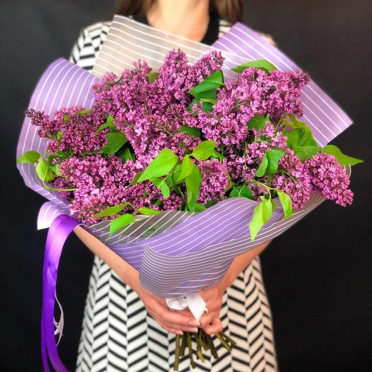 Ароматный букет из 9 веток сирени: букеты цветов на заказ Flowwow