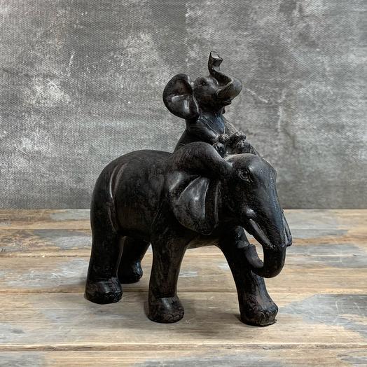Керамическая статуэтка «Слоны»