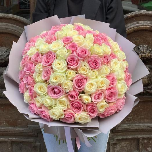 Pink   White Mix 60см