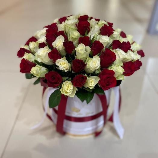 Цветы в коробке 51 шт