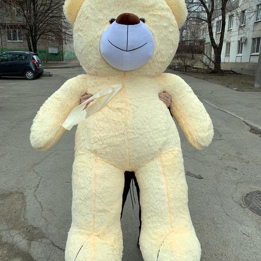 Плюшевий ведмедик 200 см персиковий
