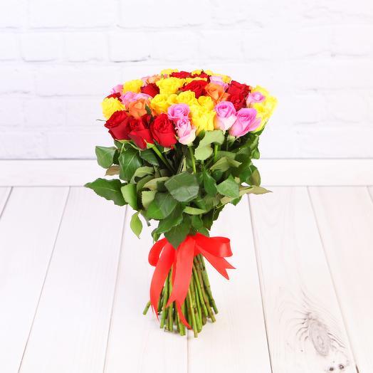 Роза Кения микс 51шт 40 см