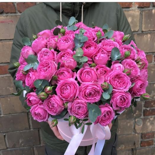 Цветы в коробке Бомбастик