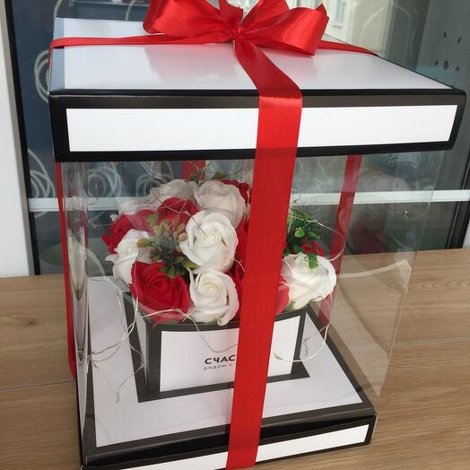 Букет цветов из мыла с подсветкой