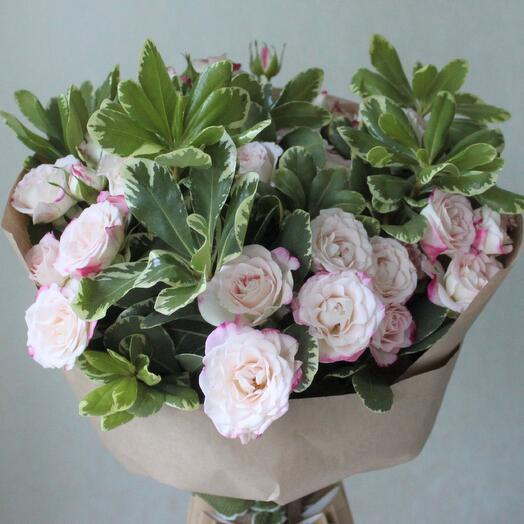 """Букет из кустовых роз сорта """"Рефлекс"""" Кустовые розы"""