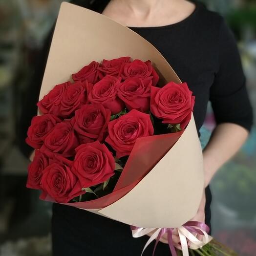Букет 15 роз Россия