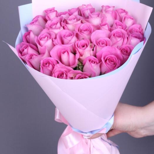 25 роз Аква премиум