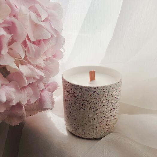 Ароматическая свеча Мятный мохито в бетоне