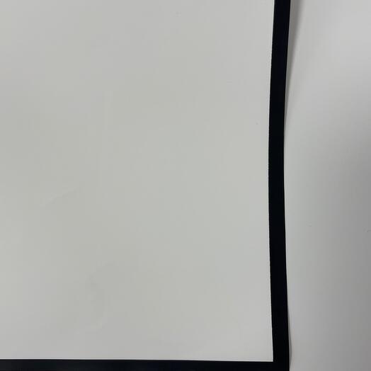 Плёнка белая с чёрным кантом