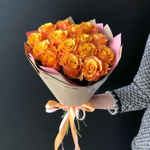 Flowers Lovers - 15 bright lace roses