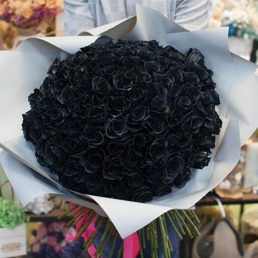 Букет из роз Черная королева