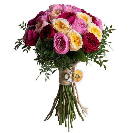 Купить, дешевый букет из пионовидных роз фото
