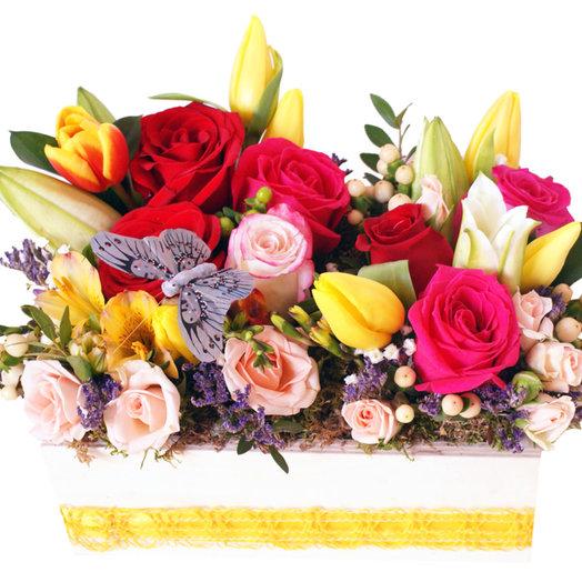 Композиция Милый садик: букеты цветов на заказ Flowwow