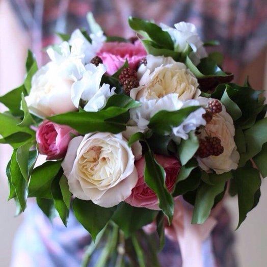 Букет из садовых роз: букеты цветов на заказ Flowwow