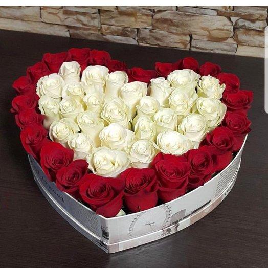 Коробочка With ove: букеты цветов на заказ Flowwow