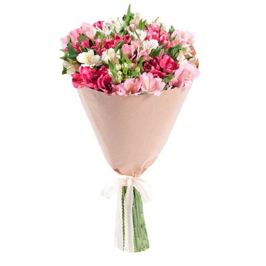 Букет из альстромерий Самоцветы: букеты цветов на заказ Flowwow