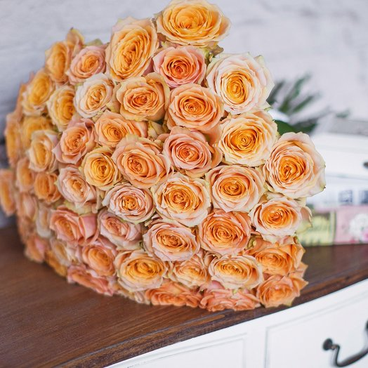 Букет из 51 розы «Shukrani»: букеты цветов на заказ Flowwow
