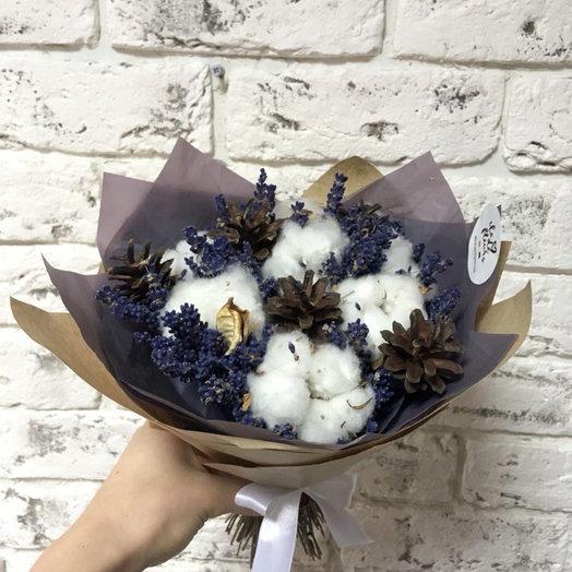 Лаванда-Хлопковый презент: букеты цветов на заказ Flowwow