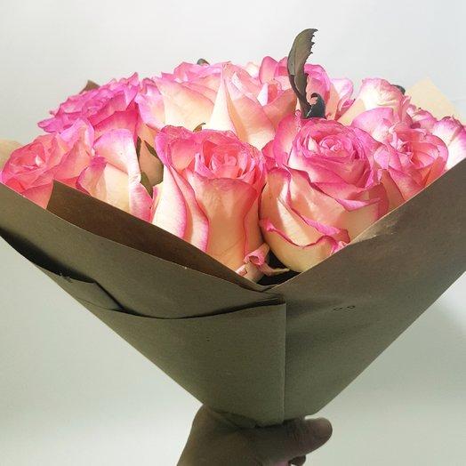 Розовый Фламинго. из 19 роз: букеты цветов на заказ Flowwow