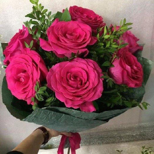 Букет из роз  7: букеты цветов на заказ Flowwow