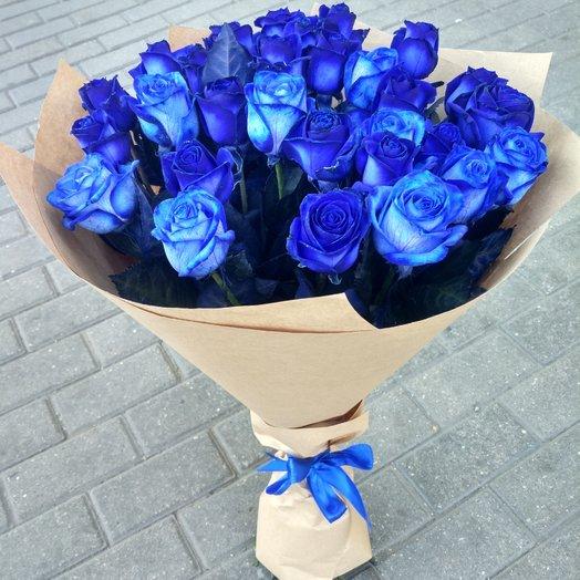 Букет из синих розы: букеты цветов на заказ Flowwow
