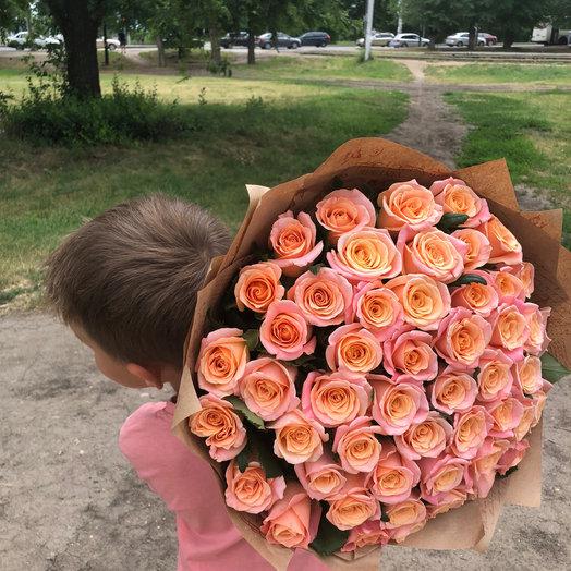 Монобукет 51 роза: букеты цветов на заказ Flowwow