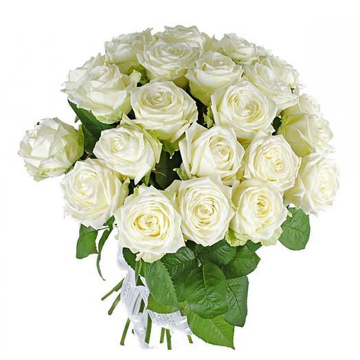 Букет 25 роз «Вайт Наоми»: букеты цветов на заказ Flowwow