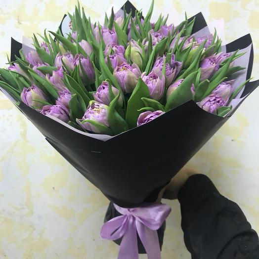 Букет из 49 пионовидных тюльпанов: букеты цветов на заказ Flowwow