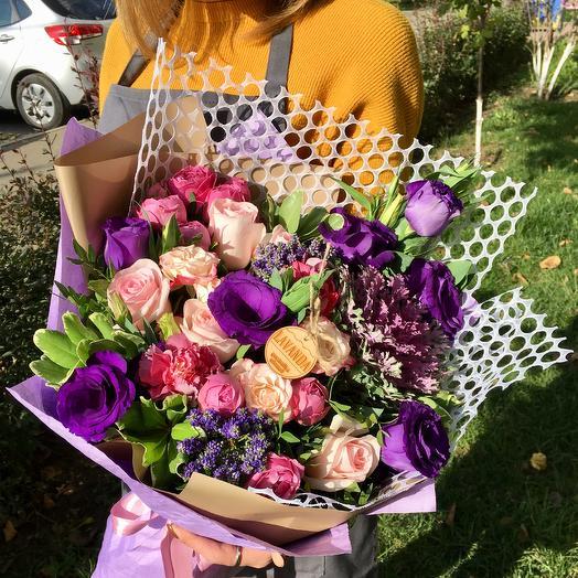 """Букет""""Фиолетовая галактика"""": букеты цветов на заказ Flowwow"""