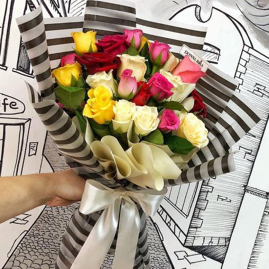 Букет 21 роза микс: букеты цветов на заказ Flowwow