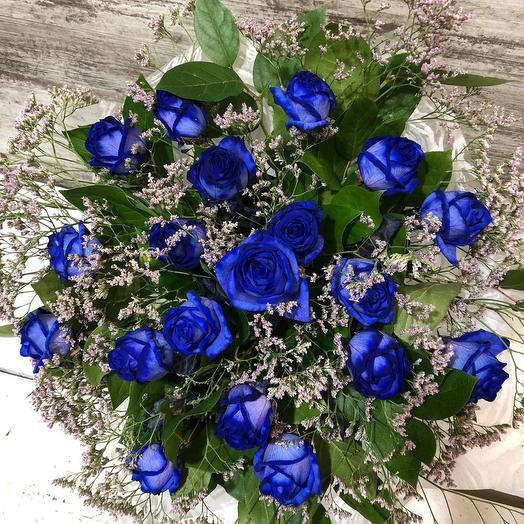 Синее настроение: букеты цветов на заказ Flowwow