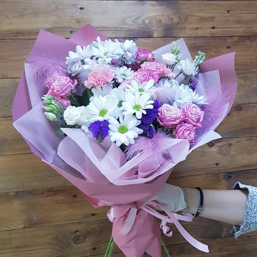 Воздушный букет с перьями: букеты цветов на заказ Flowwow