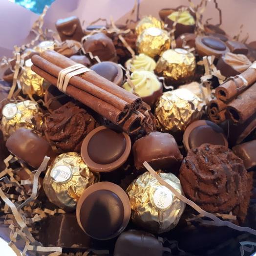 Шоколадные истории: букеты цветов на заказ Flowwow