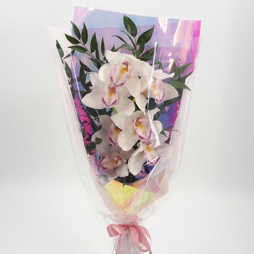 Белая орхидея: букеты цветов на заказ Flowwow
