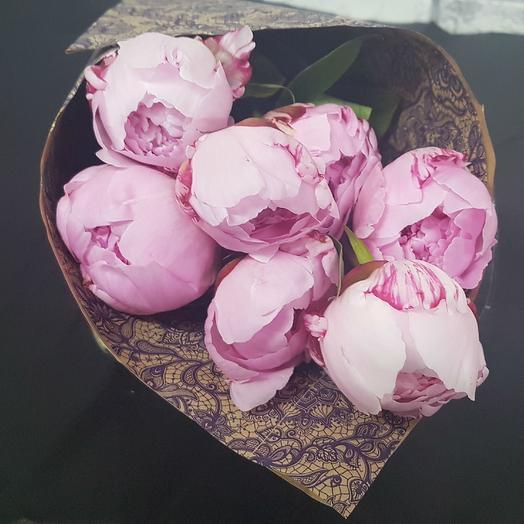 7 пионов Сара Бернар: букеты цветов на заказ Flowwow