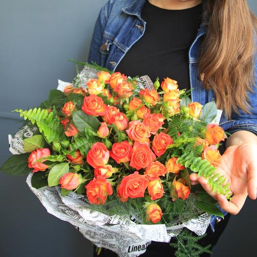 Сочный моно: букеты цветов на заказ Flowwow