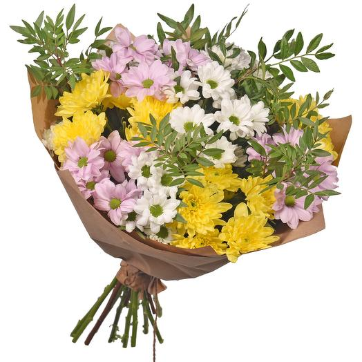 "Бует из 11 хризантем ""Анна Павлова"": букеты цветов на заказ Flowwow"