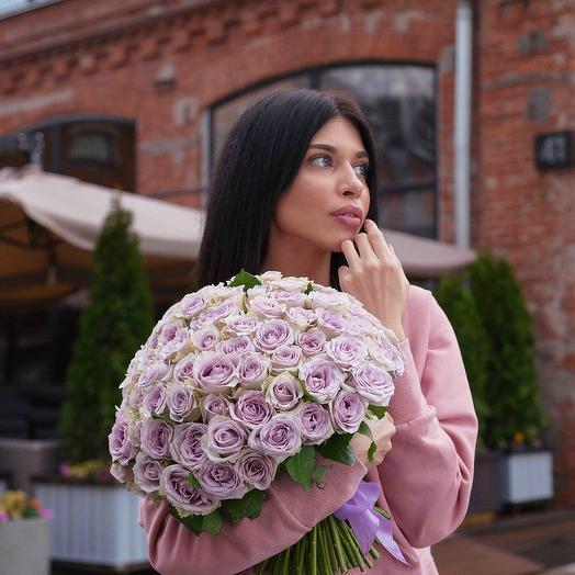 """Букет """"101 Роза сиреневая"""": букеты цветов на заказ Flowwow"""