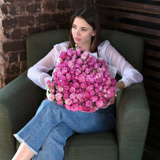 Кустовая пионовидная роза: букеты цветов на заказ Flowwow