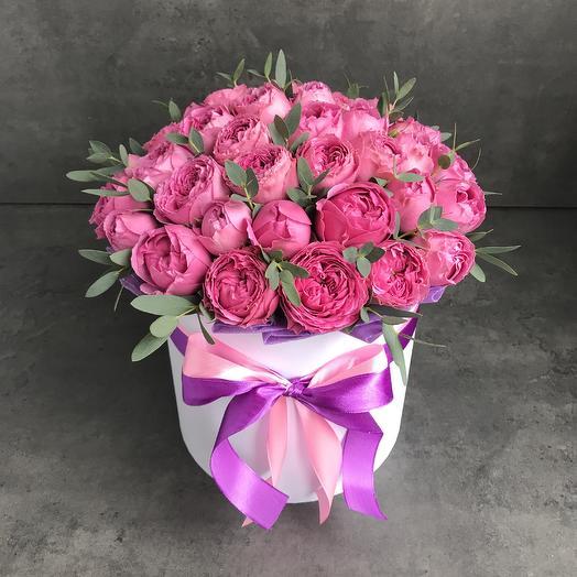 31 пионовидная роза: букеты цветов на заказ Flowwow