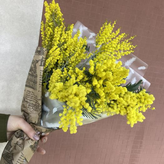 Настоящая ароматная мимоза: букеты цветов на заказ Flowwow