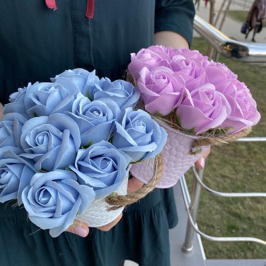 Декор из мыльных роз