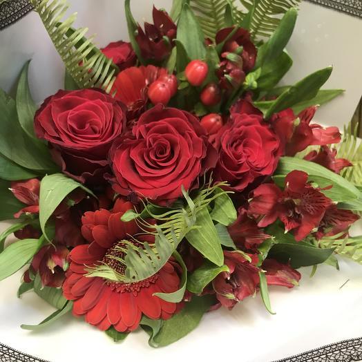 Букет 'с Любовью: букеты цветов на заказ Flowwow
