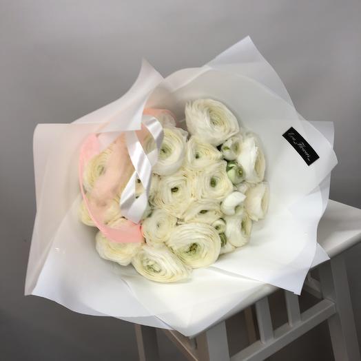 19 белоснежных ранункулюса: букеты цветов на заказ Flowwow