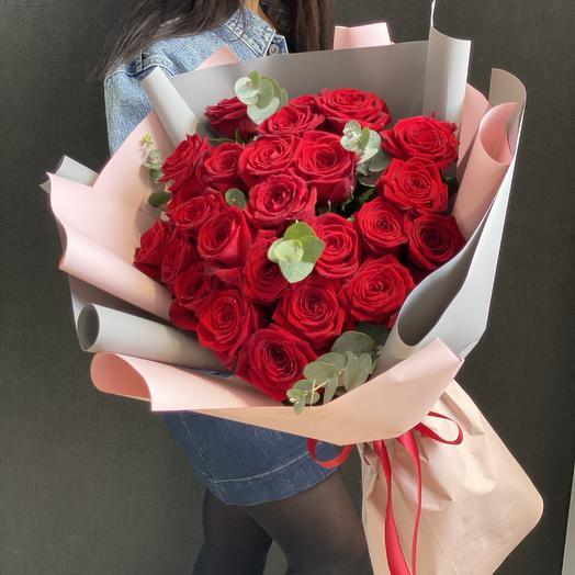 Букет из красных  роз Казань