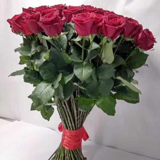 Букет из 71 красной розы 70 см: букеты цветов на заказ Flowwow