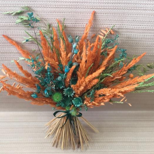 Букетик сухоцветов Оранжевое настроение