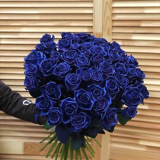 Букет из 51 голандской синей розы