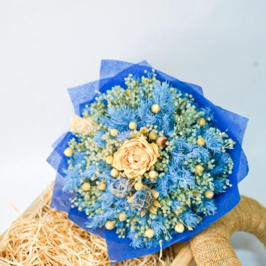 "Букетик из сухоцветов ""Blue"""