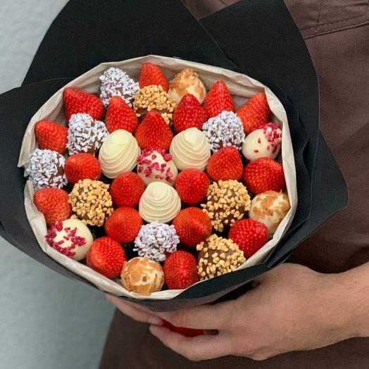 Букет из ягод и клубники в шоколаде 🍫